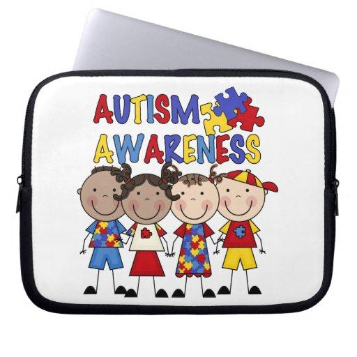 Stick Figure Kids Autism Awareness Laptop Computer Sleeve