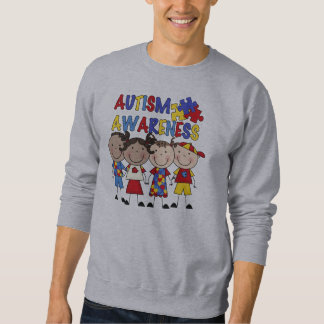Stick Figure Kids Autism Awareness Sweatshirt