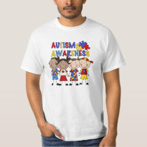 Stick Figure Kids Autism Awareness T-Shirt