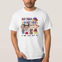 Stick Figure Kids Autism Awareness T-Shirt