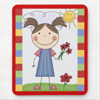 Stick Figure Kids Cards and Gifts Mouse Pad