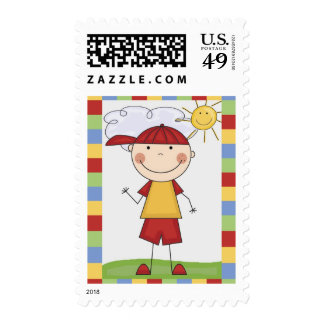 Stick Figure Kids Cards and Gifts Postage