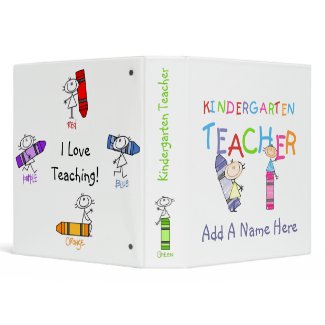 Stick Figure Kindergarten Teacher Binder binder