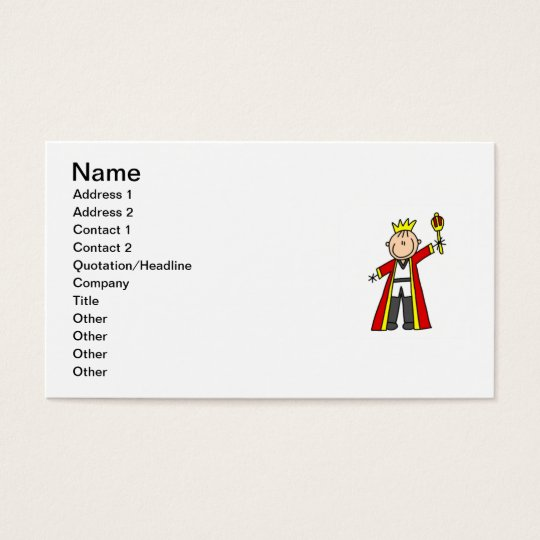 Stick Figure King Business Card