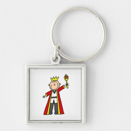 Stick Figure King Keychain