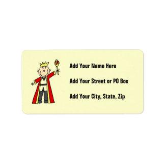 Stick Figure King Address Label