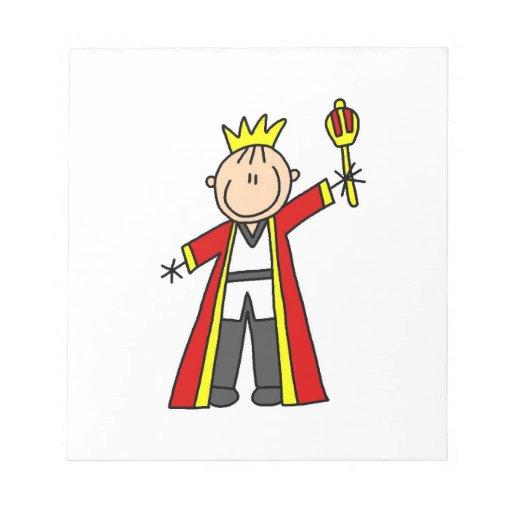 Stick Figure King Notepad