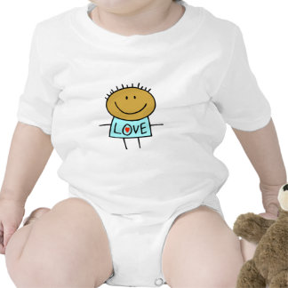 Stick Figure Love Baby clothes Tees