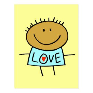 Stick Figure Love Card Post Card