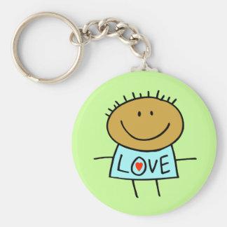 Stick Figure Love Key Chain