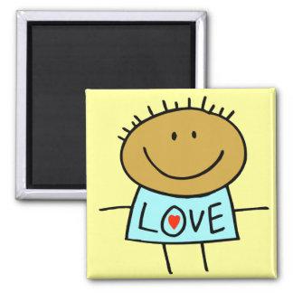 Stick Figure Love Magnet