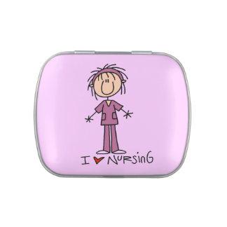 Stick Figure Love Nursing Candy Tins and Jars