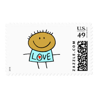 Stick Figure Love Postage Stamps