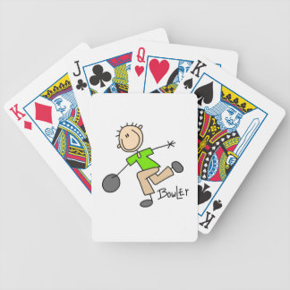 Stick Figure Male Bowler T-shirts and GIfts Bicycle Playing Cards