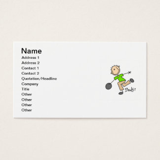 Stick Figure Male Bowler T-shirts and GIfts Business Card