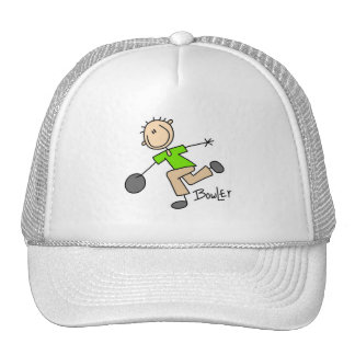 Stick Figure Male Bowler T-shirts and GIfts Trucker Hat