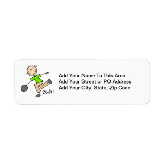 Stick Figure Male Bowler T-shirts and GIfts Label