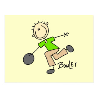 Stick Figure Male Bowler T-shirts and GIfts Postcard
