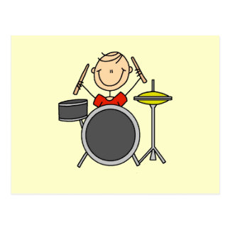 Stick Figure Male Drummer T-shirts and Gifts Postcard