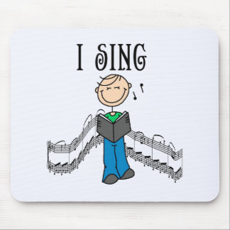 Stick Figure Male I Sing T-shirts and Gifts Mouse Pad