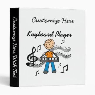 Stick Figure Male Keyboard Player Gifts Binder