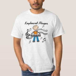 Stick Figure Male Keyboard Player Gifts Shirt