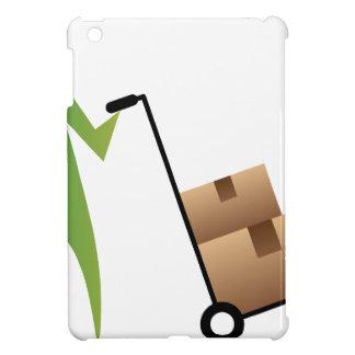 Stick Figure Man Moving Boxes Handtruck iPad Mini Case
