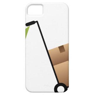 Stick Figure Man Moving Boxes Handtruck iPhone SE/5/5s Case