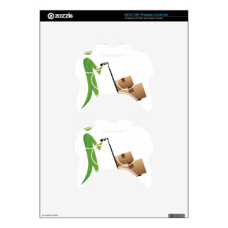 Stick Figure Man Moving Boxes Handtruck Xbox 360 Controller Skin