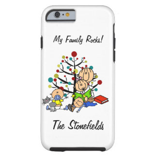 Stick Figure Mom,Girl, Toddler, Baby, Cat iPhone 6 Tough iPhone 6 Case