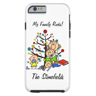Stick Figure Mom,Girl, Toddler, Baby iPhone 6 Tough iPhone 6 Case