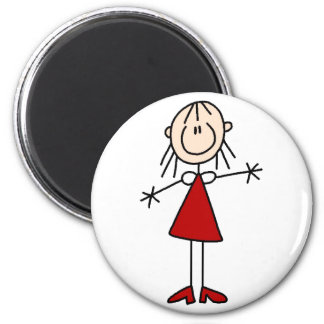 Stick Figure Mom Magnet