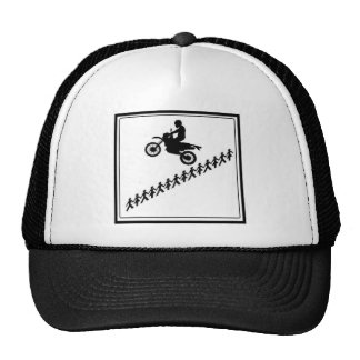 STICK FIGURE MOTOCROSS TRUCKER HAT
