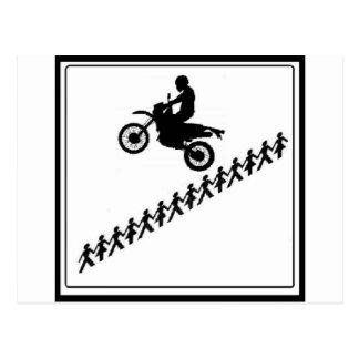 STICK FIGURE MOTOCROSS POSTCARD