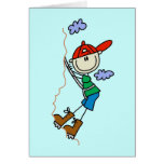 Stick Figure Mountain Climbing Tshirts and Gifts Greeting Card