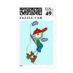 Stick Figure Mountain Climbing Tshirts and Gifts Stamp