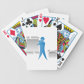 Stick Figure Mover Man Assembling Boxes Bicycle Playing Cards