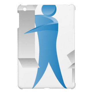 Stick Figure Mover Man Assembling Boxes Case For The iPad Mini