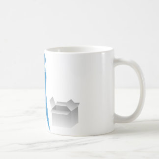 Stick Figure Mover Man Assembling Boxes Coffee Mug