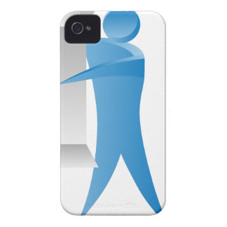 Stick Figure Mover Man Assembling Boxes iPhone 4 Cover