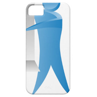 Stick Figure Mover Man Assembling Boxes iPhone SE/5/5s Case