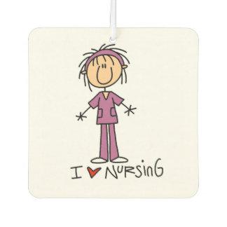 Stick Figure Nurse I Love Nursing Air Freshner Car Air Freshener