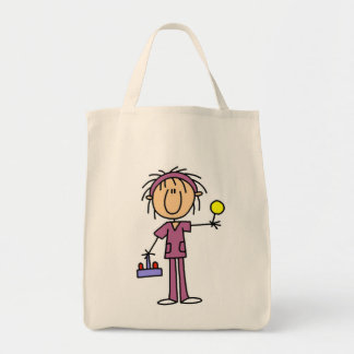 Stick Figure Nurse With Lollipop Tshirts and Gifts Tote Bag