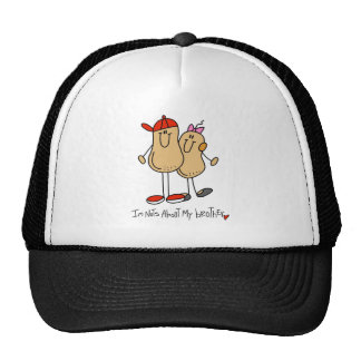 Stick Figure Nuts About My Brother Baseball Cap Trucker Hat