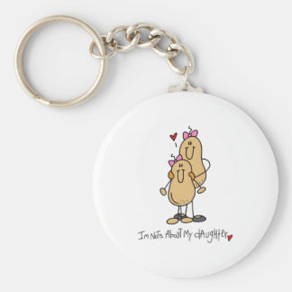 Stick Figure Nuts About My Daughter Keychain