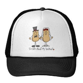 Stick Figure Nuts About My Husband Baseball Cap Trucker Hat