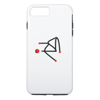 Stick figure of half lord of the fishes yoga pose. iPhone 8 plus/7 plus case