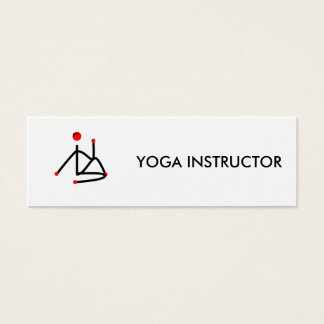 Stick figure of half lord of the fishes yoga pose. mini business card
