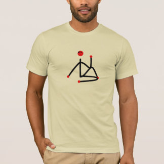 Stick figure of half lord of the fishes yoga pose. T-Shirt