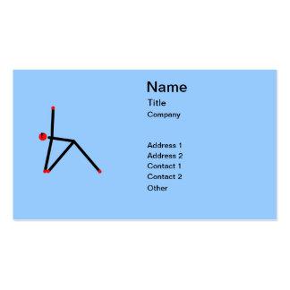 Stick figure of triangle yoga pose. business card